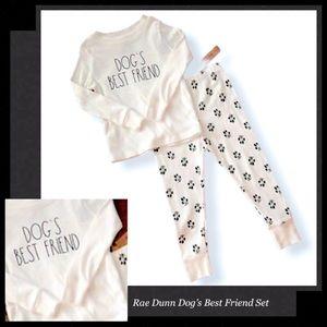RAE DUNN Dog's Best Friend Pajamas Set